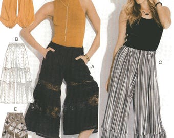 McCall's Very LOOSE PULL-On PANTS Pattern 7576 Misses Sizes Xsm Sm Med