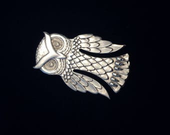Vintage Reed & Barton Sterling Silver Owl Collectible Heirloom Bookmark