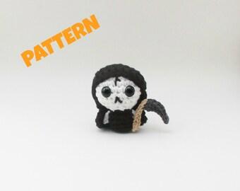 Amigurumi Grim Reaper Doll Pattern, Amigurumi Patterns, Crochet Doll Pattern, Amigurumi Doll Pattern, Crochet Patterns, Crochet Toy Pattern