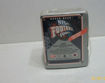 1991 Upper Deck NFL Football Premiere Edition High Number Series Factory Sealed  Trading Cards