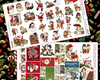 A Very Vintage Christmas Planner Stickers