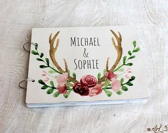 Wedding Guest Book, Guestbook Wedding, Wedding Guestbook, Guest Book Guestbook Personalized Wedding Gift Custom Guest Book, Shabby Guestbook