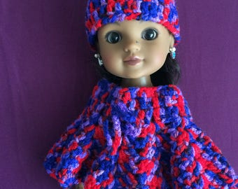 PDF Crochet pattern for 14 inch doll, Wellie Wisher doll, Hearts for Hearts doll