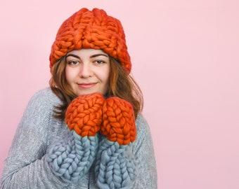 Super Chunky Hat Merino Wool Chunku Hat Bulky Hat Knit Hat Cable Knit Hat Knitting Pattern Womens Hat Womens Hat Pattern