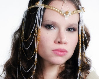 Art Nouveau Elven Boho Wedding Headdress Tiara LOTR Arwen Cosplay Costume Crown
