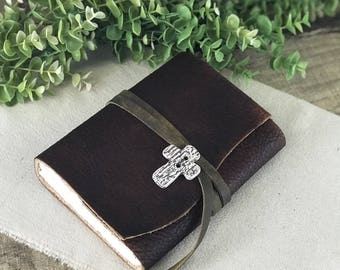 Refillable Leather Prayer Journal Refillable Reflection Journal Personalized Confirmation Gifts Gratitude Journal Writing Journal Leather
