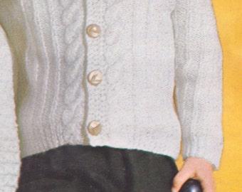 Free knit pattern etsy 550 pdf children cardigan sweater knitting pattern size 1 2 3 4 dt1010fo