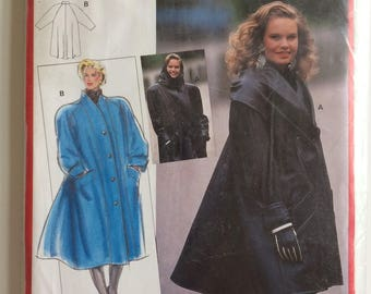 Vintage Burda sewing pattern 5516 - swing coat - size 10 to 20