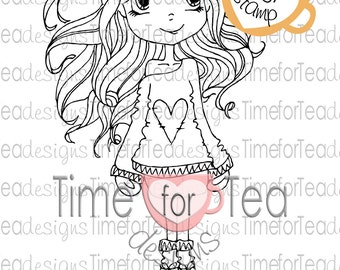 Fall Love Digi Stamp