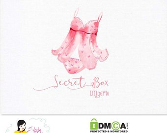 Handrawn Premade Logo / Woman Lingerie Logo / Watercolor Logo/ Small Business Logo Design – LD053