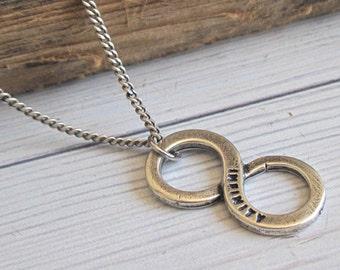 Men's Necklace - Men Infinity Necklace - Men Silver Necklace - Men's Jewelry - Men Jewelry - Men Necklace - Boyfriend Gift - Husband Gift