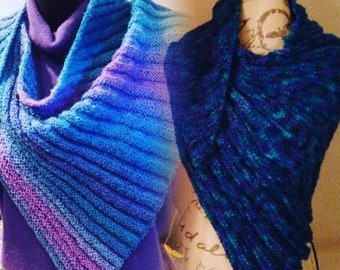 Sylvie's Triangle Textured Scarf Knitting PATTERN
