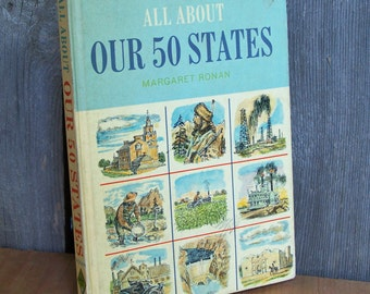 Vintage 1962 All About Our 50 States Book