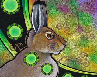 Mountain Hare as Totem - Original Art