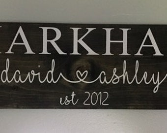 "Fabric Name board 24""x5.5"" Wood sign"