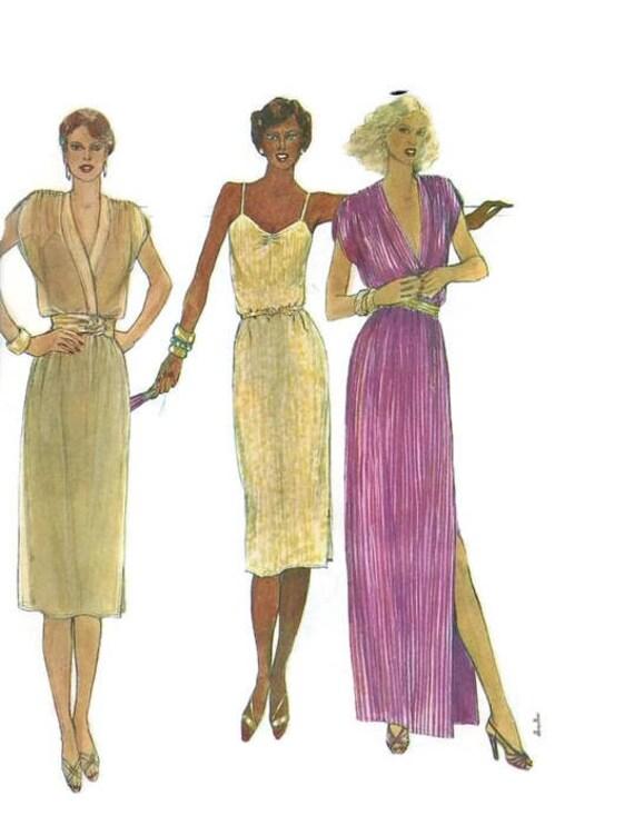 McCall 6905 Nähen Muster der 1970er Jahre Disco Kleid schlanke