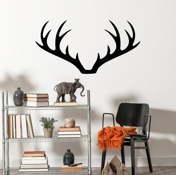 Deer Antler Wall Decals Deer Wall Decal Deer Vinyl Decal Boho