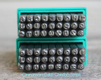 Cinnamon Cake  Combo Metal Stamp Set-3mm-Uppercase/Lowercase-Metal Supply Chick-Steel Stamps for Metal-Can be used on Stainless