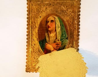 Antique German Religious Holy Card 1930s
