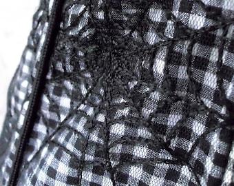 Vintage 'Tripp' Zippered Spider Web Corset Medium Large