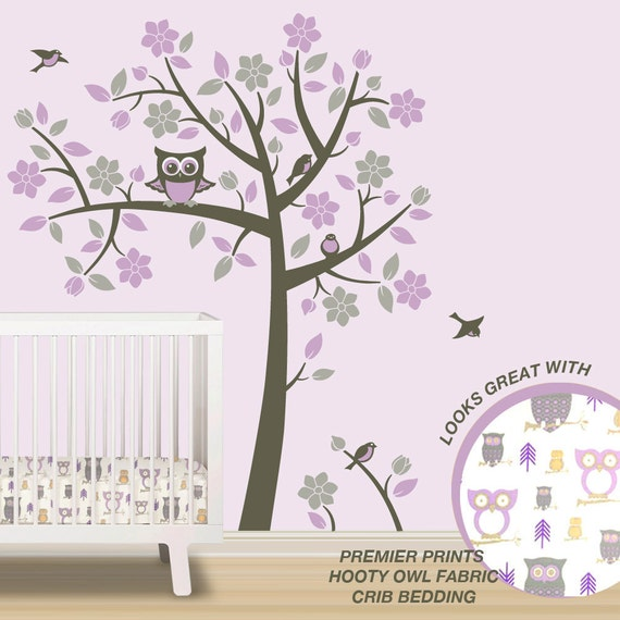 Owl Tree Wall Decals Owl Nursery Theme Tree Wall Decals To