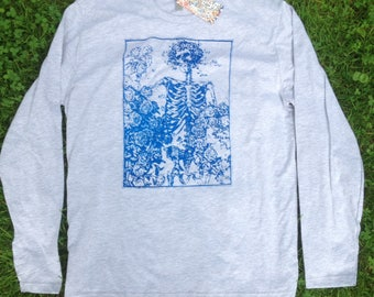 Grateful Dead Bertha Roses long sleeve tee screen print Jerry Garcia Bob Weir Phil Lesh Mickey Billy Phi