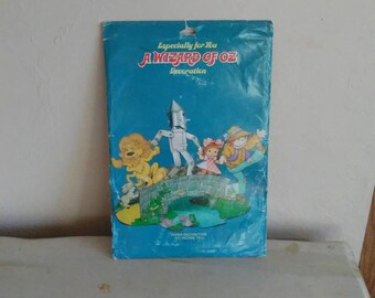 Vintage Wizard of Oz Table Centerpiece Decoration Unopened American Greetings Dorothy Tinman Lion Scarecrow & Toto To!