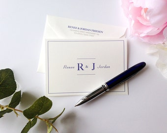 Simple and Modern Folded Thank You Note Cards