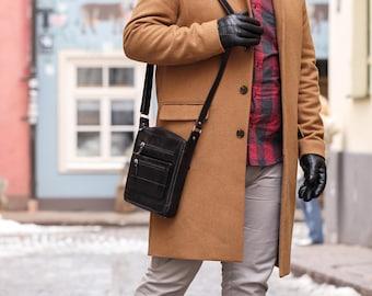 Handmade leather messenger bag Leather crossbody bag Leather handbag for men Mens handbags Lather satchel Mens leather bags ( 32)
