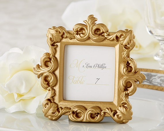 Mini Gold Picture Frames 30 Set Baroque Small Place Card