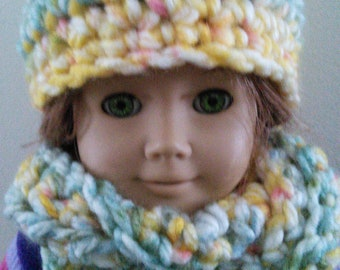 A cozy infinity scarf and hat