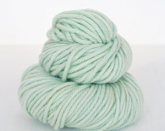 You Were Mint For Me - Hand Dyed Bulky Weight Superwash Merino Wool Yarn in Minty Blue / Green