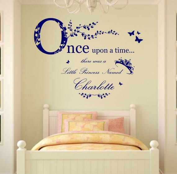 Personalised Name Once Upon a Time Princess Wall Art