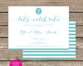 Sidney Collection Post Wedding Brunch/Breakfast Invitation DIY Printable -  Lovely Little Party
