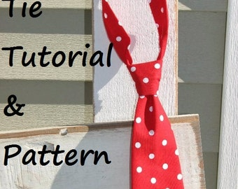 Boys tie pattern sewing PDF Instant Download