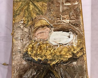 4x6 Gold Baby Jesus Painting
