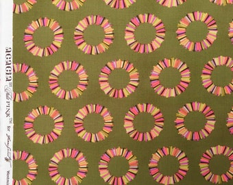 Acacia Pineapple Slices olive Tula Pink fabric Fat Quarter yard or more OOP HTF