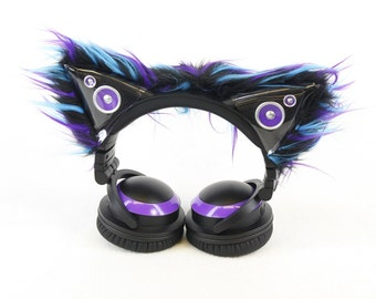 Pawstar Accent Sleeves ONLY Kitty Mew Ear Covers For Cat Ear Headphones You Pick Color Scheme Axent Red White Pink Purple Black White 3085