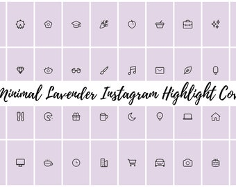 49 Minimal Lavender Instagram Covers for Bloggers, Influencers, and Creatives