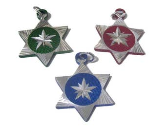Star of David Charms x 6