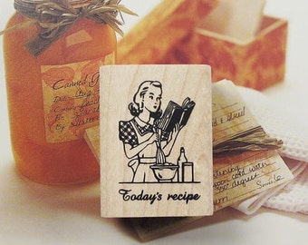 Today's Recipe Rubber Stamp