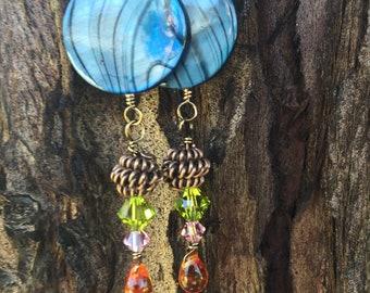 Blue Zebra Earrings