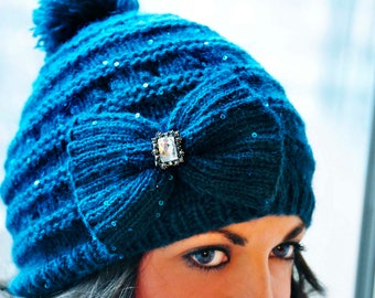Mother Daughter Bow Hat set