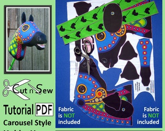 Cut n Sew Carousel Style Hobby Horse Sewing Tutorial