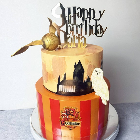 Happy Birthday Harry Potter Personalized Cake Topper.