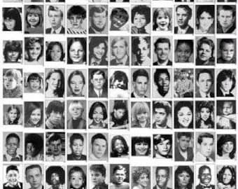 Celebrity Yearbook Photos Poster Guess Their Names (16x20)