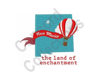 Hot Air Balloon - Machine Embroidery Design, New Mexico, Land Of Enchantment