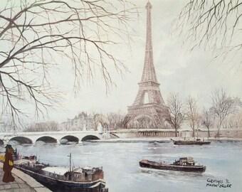 Alf à Paris avec du pain - Alf in Paris with bread - ALFfirmation of a thrift store painting