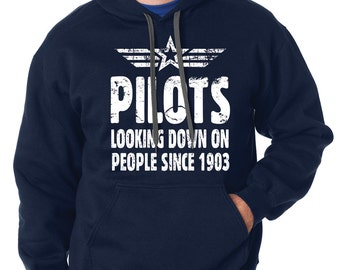 Pilot Hoodie Funny Aviator Hooded Sweatshirt Gift For Pilot