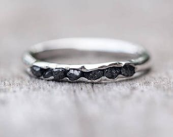 Rough black diamond ring // Hidden Gems